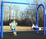 arch residential swing set