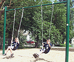 single post residential swing set